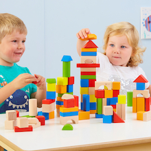 Classic World Wooden Building Blocks   medium