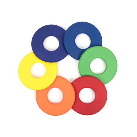 Flat Ring Foam Frisbees 6pk  large