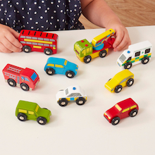 Wooden Transport Vehicles 9pk  medium