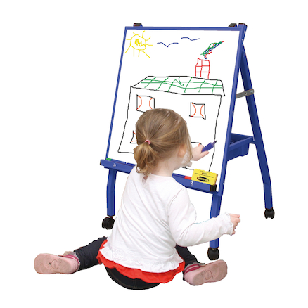 Little A Frame Height Adjustable Mobile Whiteboard  large