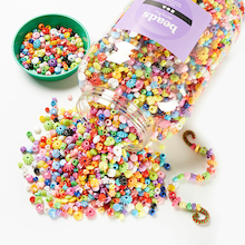 Assorted Bucket Of Plastic Beads 3kg  medium