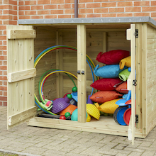 Outdoor Wooden Lockable Storage Cubby  medium