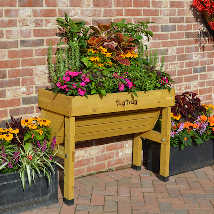 Wallhugger Planter Natural Wood  large