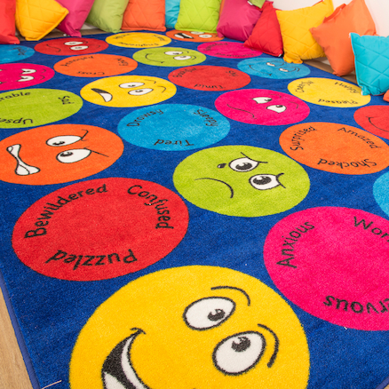 Emotions Faces Interactive Rug  large