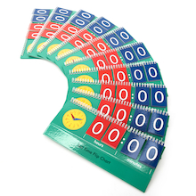 Telling Time Pupil Coloured Flipboards 10pk  medium