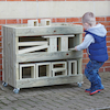 Outdoor Hollow Block Storage Trolley  small