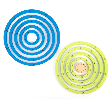 Colourful Foam Times Table Wheel Rings  large