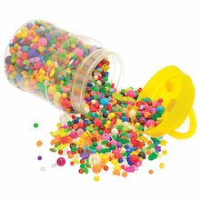 Bucket Of Assorted Plastic Beads 2500pk  medium