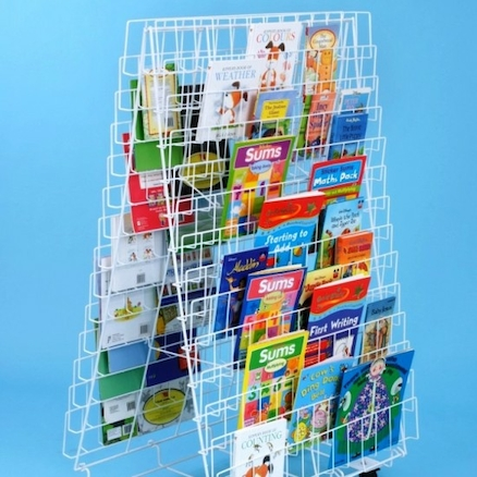 Double Sided Mobile Book Rack L150 x W90 x H120cm  large