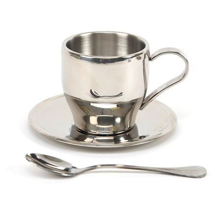 Metal Tea Cup Set 4pk  large