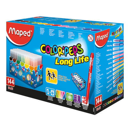 Maped Color\' Peps Assorted Medium Felt Tip Pens  large