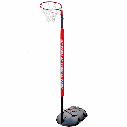 Adjustable Portable Netball Goal with Post Pad  large