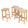 Basic Wooden Lab Stool 4pk  small