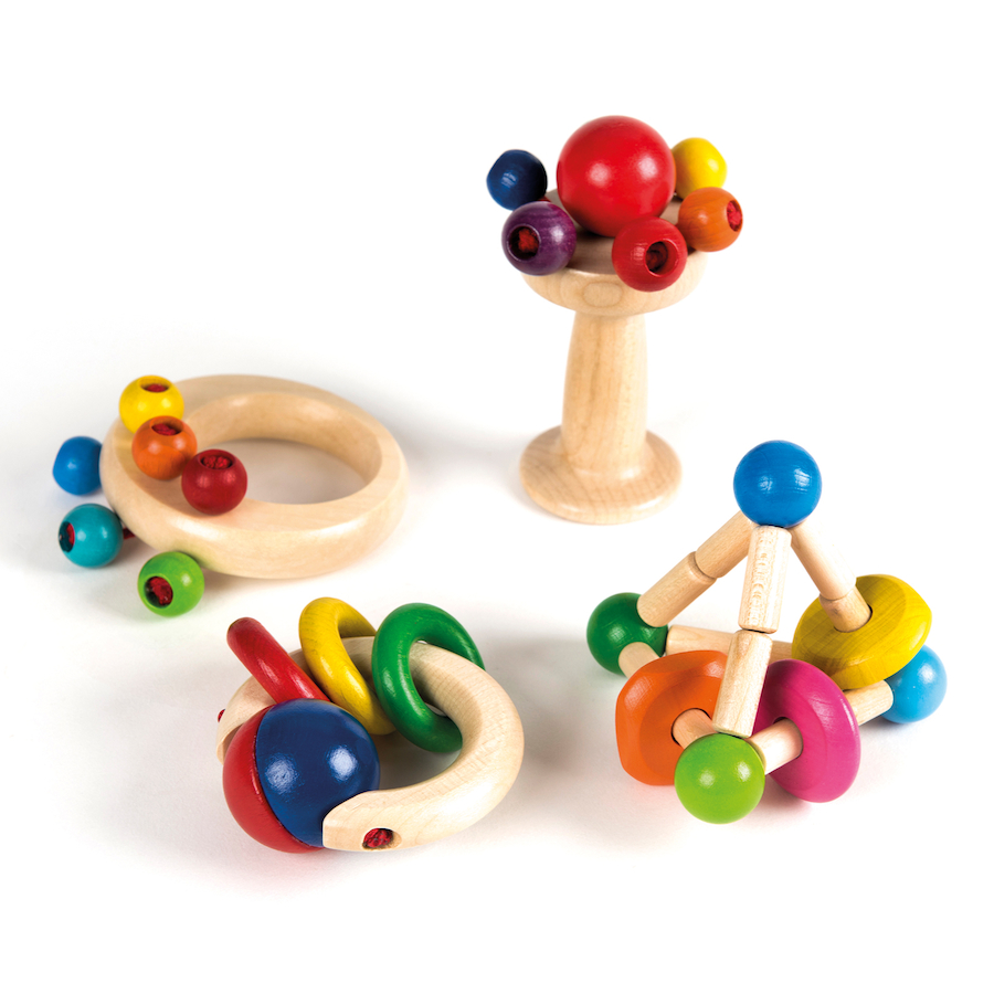 Toys For 4 : Buy wooden grasping toys set pk tts