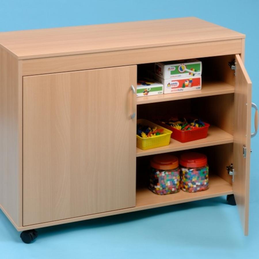 Small Beech Storage Cupboard