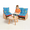 Small Wooden Lounge Furniture Set with Cushions  small