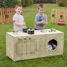 Outdoor Wooden Role Play Kitchen Centre  medium