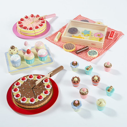 Wooden Role Play Cake Selection Set  large
