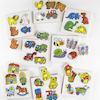 Wooden Large Peg Toddler Puzzle Boards Set 8pk  small