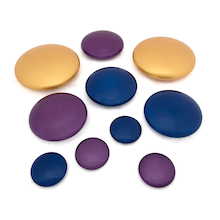 Marvellous Metallics Coloured Pebbles 10pk  medium