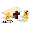 Wooden Christian Symbols 5pk  small