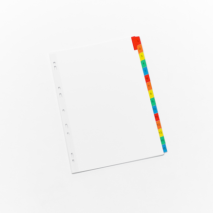 Assorted Avery Index Folder Dividers  large