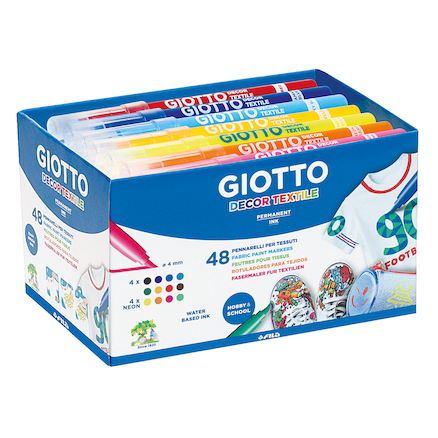 Giotto Water Based Assorted Fabric Markers  large
