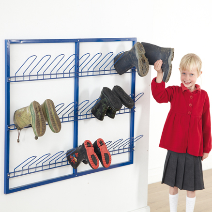 Wall Mountable Wellie Rack  large