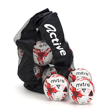 Mitre Tactic Footballs and Storage Bag 12pk  medium
