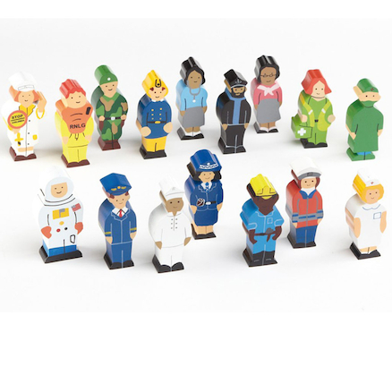 Small World Occupation Figures Set 16pcs  large