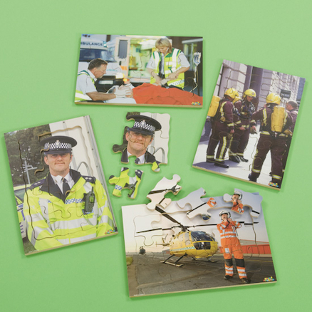 People Who Help Us Photographic Puzzle Set 4pk  large