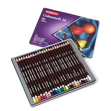 Derwent Coloursoft Colouring Pencils Assorted 24pk  medium