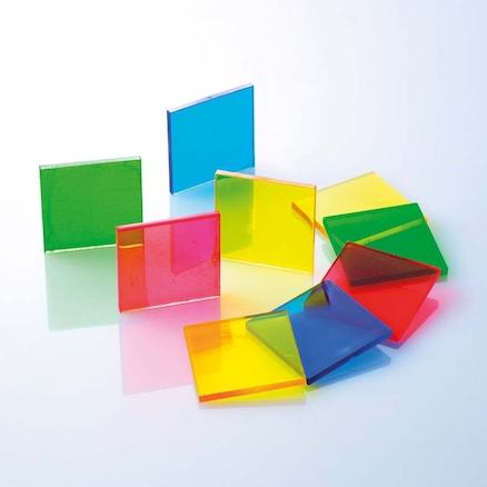 Coloured Translucent Plastic Tiles 1000pcs  large