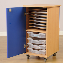 8 Way Charge Only Tablet Storage Cupboard  medium