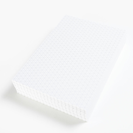 A4 Paper Isometric Grid 500 Sheets  large