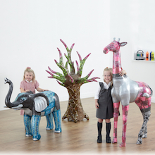 Wild and Wonderful Giant Mache Display Figures  medium