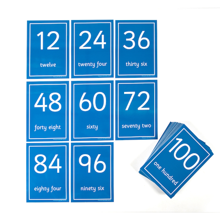 Laminated Number Cards 1\-100  large