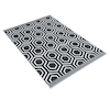 Hexagonal Patterned Grey and Cream Rug  small