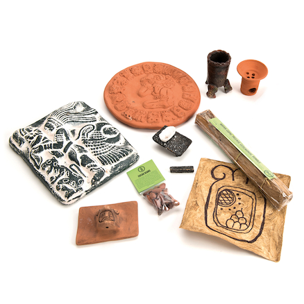Maya Archaeology Artefacts Box  large