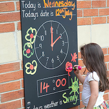 Telling the Time Chalkboard W66 x H95cm  medium