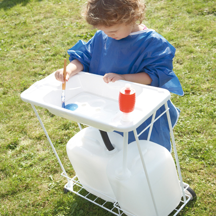 School Mobile Indoor or Outdoor Sink Unit  large