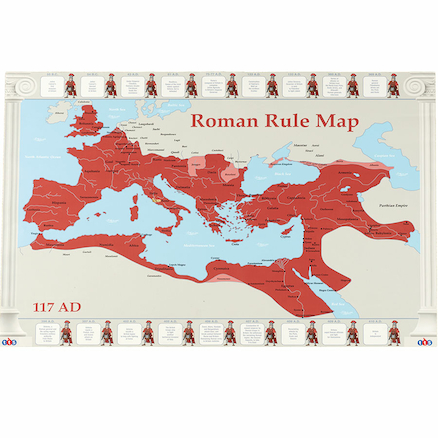 Roman Rule Europe Map A1  large
