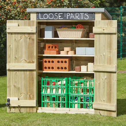 Outdoor Storage Shed with Chalkboard  large