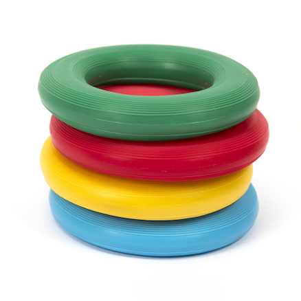 Plastic Squidgy Inflatable Ring Set 4pk  large