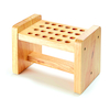 Natural Wood Scissor Rack  small