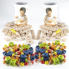 Wooden Construction Set 182pcs  medium