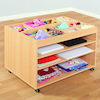 Wooden Art and Collage Storage Trolley  small