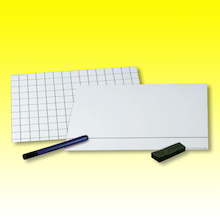Maths 2cm Grid Card Whiteboards 30pk  medium