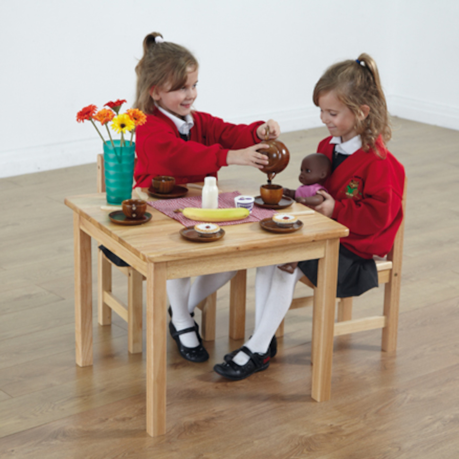 Buy Role Play Wooden Table And Chairs Tts