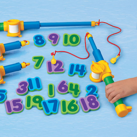 Magnetic Numbers Foam Fishing Set 1-20  large